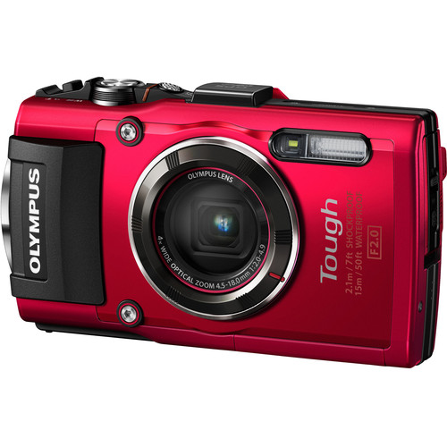 Olympus Stylus TOUGH TG-4 Digital Camera Basic Kit (Red)