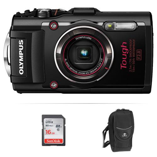 Olympus Stylus TOUGH TG-4 Digital Camera Basic Kit (Black)