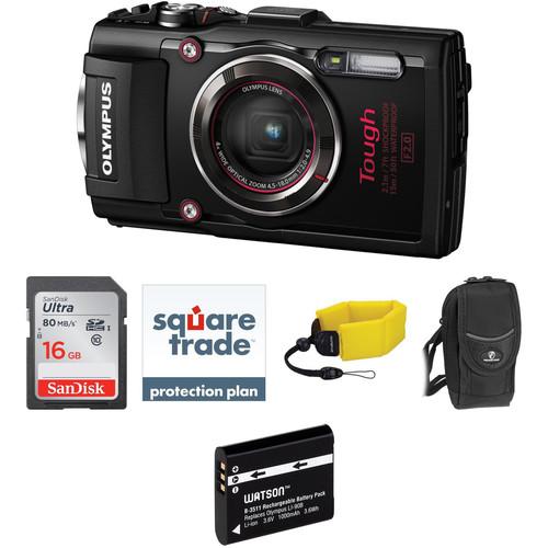 Olympus Stylus TOUGH TG-4 Digital Camera Deluxe Kit (Black)
