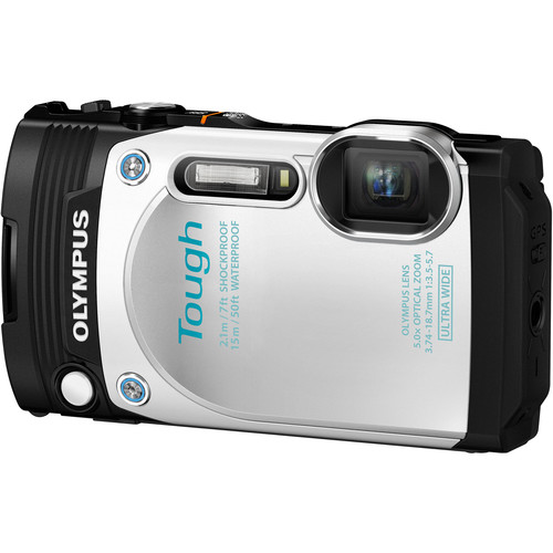 Olympus Stylus TOUGH TG-870 Digital Camera Basic Kit (White)