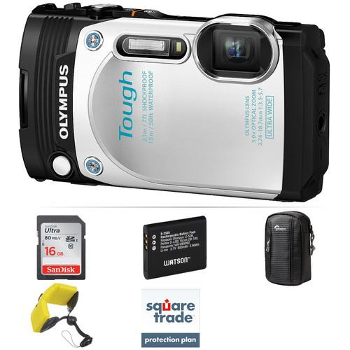 Olympus Stylus TOUGH TG-870 Digital Camera Deluxe Kit (White)
