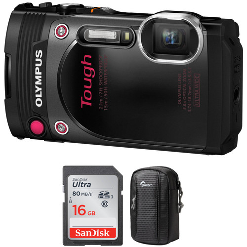 Olympus Stylus TOUGH TG-870 Digital Camera Basic Kit (Black)