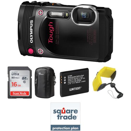 Olympus Stylus TOUGH TG-870 Digital Camera Deluxe Kit (Black)