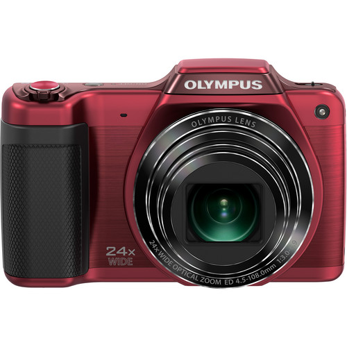 Olympus SZ-15 Digital Camera (Red)