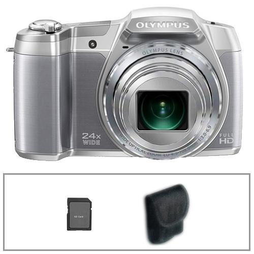 Olympus SZ-16 iHS Digital Camera Basic Accessory Kit (Silver)