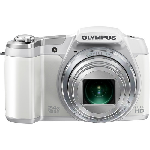 Olympus SZ-16 iHS Digital Camera (White)