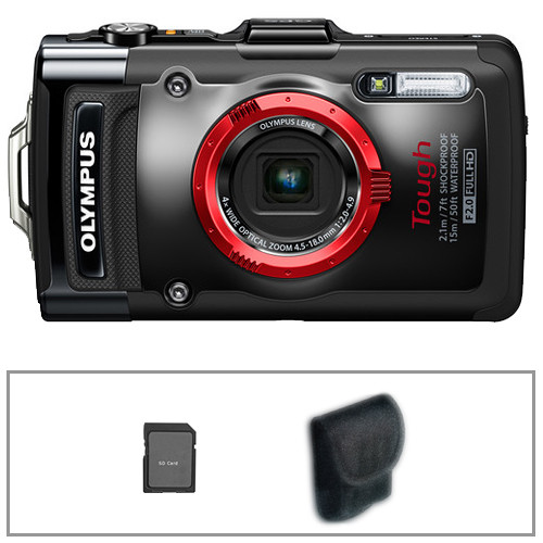 Olympus Tough TG-2 iHS Digital Camera Basic Kit (Black)