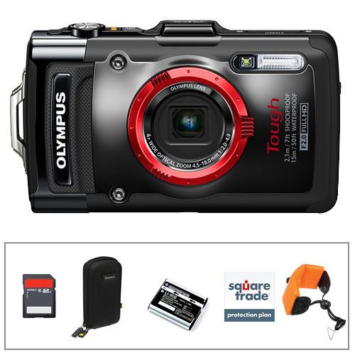 Olympus Tough TG-2 iHS Digital Camera Deluxe Kit (Black)