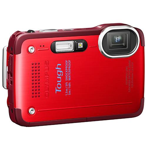 Olympus TG-630 iHS Digital Camera (Red)