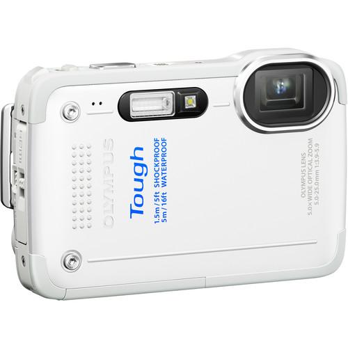 Olympus TG-630 iHS Digital Camera (White)