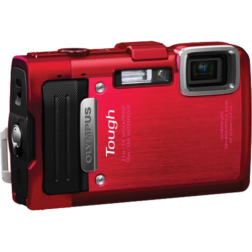 Olympus TG-830 iHS Digital Camera (Red)