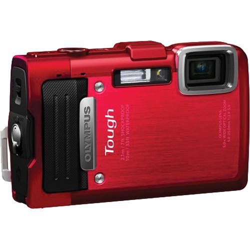 Olympus TG-830 iHS Digital Camera (Red)