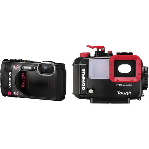 Olympus Stylus TOUGH TG-870 Digital Camera and PT-057 Underwater Housing Kit