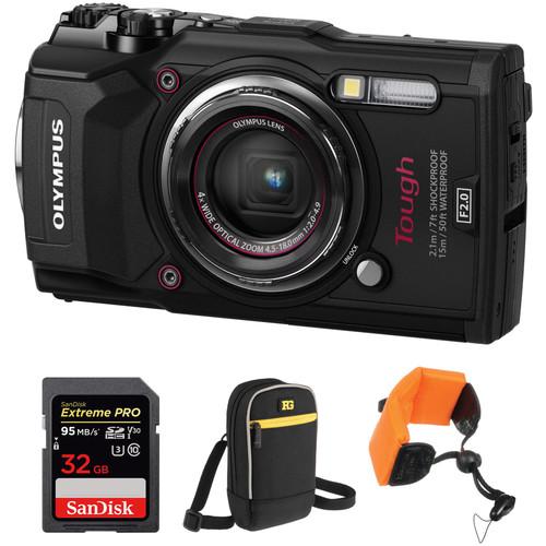 Olympus Tough TG-5 Digital Camera Basic Kit (Black)