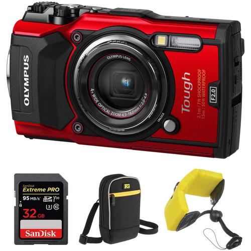 Olympus Tough TG-5 Digital Camera Basic Kit (Red)
