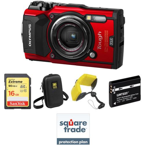 Olympus Tough TG-5 Digital Camera Deluxe Kit (Red)