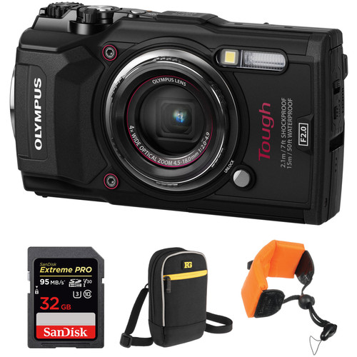 Olympus Tough TG-5 Digital Camera Basic Kit (Black)