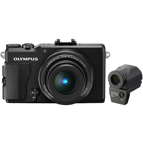 Olympus STYLUS XZ-2 iHS Digital Camera Kit with VF-2 Electronic Viewfinder