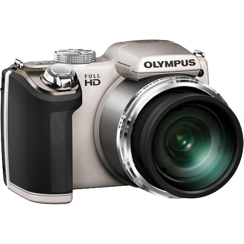 Olympus SP-720UZ Digital Camera (Silver)