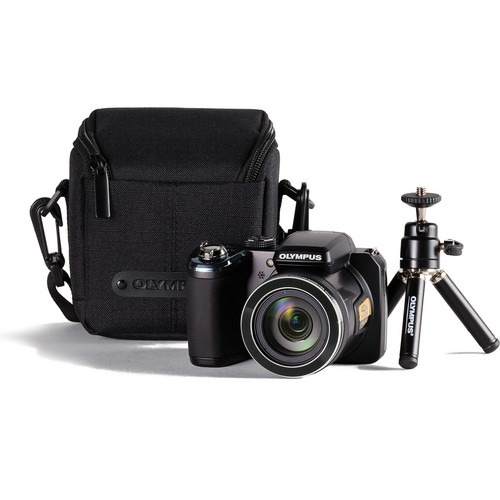 Olympus SP-820UZ iHS Digital Camera Bundle (Black)