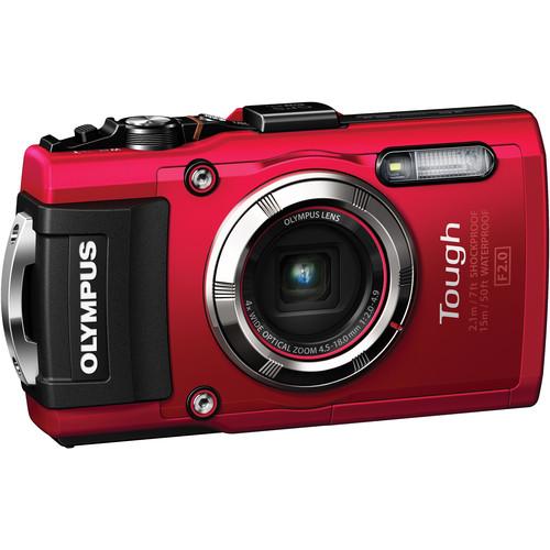 Olympus Stylus TOUGH TG-3 Digital Camera (Red)