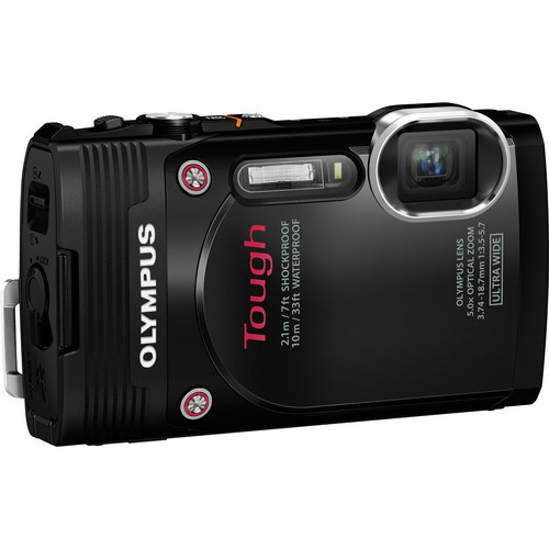 Olympus Stylus Tough TG-850 Digital Camera (Black)