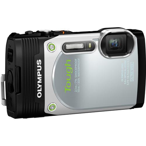 Olympus Stylus Tough TG-850 Digital Camera (Silver)