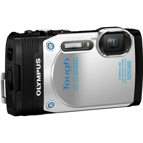 Olympus Stylus Tough TG-850 Digital Camera (White)