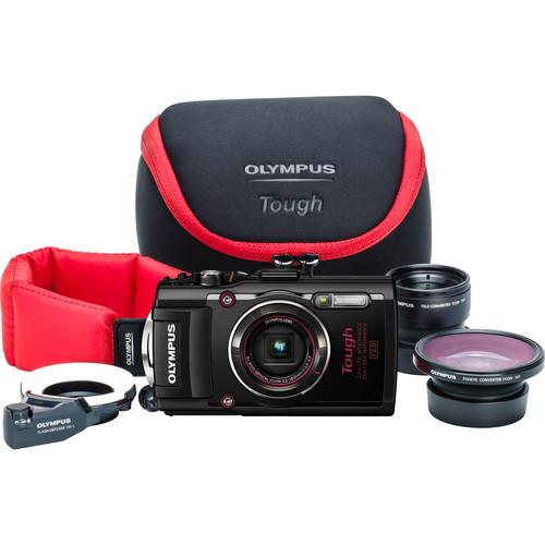 Olympus Stylus TOUGH TG-4 Digital Camera Ultimate Adventure Kit (Black)