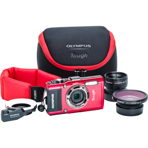 Olympus Stylus TOUGH TG-4 Digital Camera Ultimate Adventure Kit (Red)