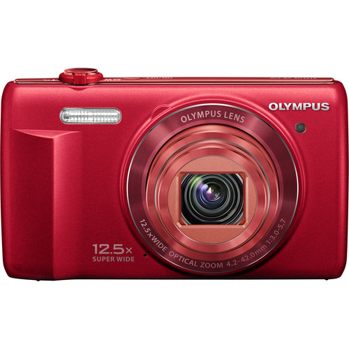 Olympus VR-370 Digital Camera (Red)