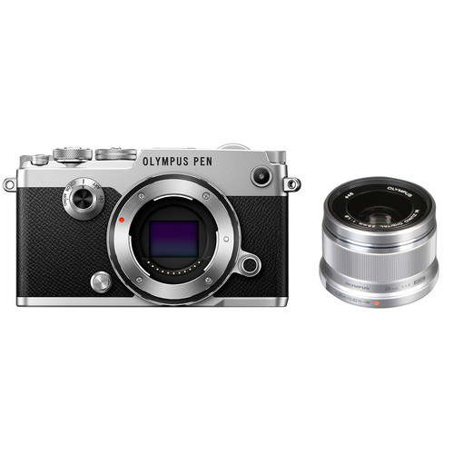 Olympus PEN-F Mirrorless Micro Four Thirds Digital Camera with 25mm Lens Kit (Silver)