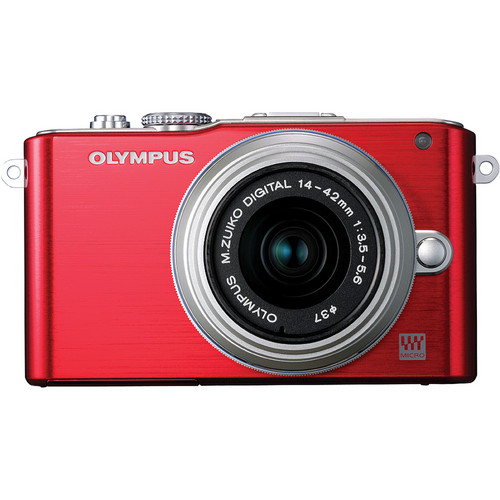 Olympus E-PL3 Mirrorless Micro Four Thirds Digital Camera with 14-42mm II f/3.5-5.6 Lens (Red)