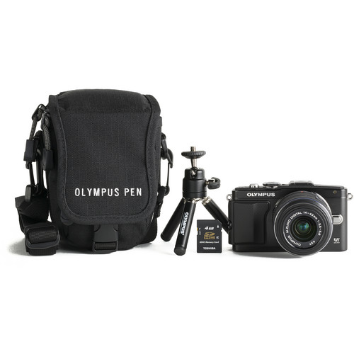 Olympus E-PL5 Mirrorless Digital Camera with M.ZUIKO 14-42mm f/3.5-5.6 Lens Bundle (Black)