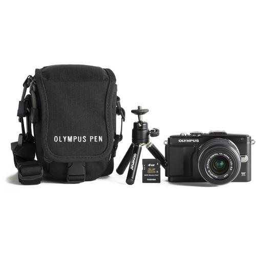 Olympus E-PL5 Mirrorless Digital Camera with M.ZUIKO 14-42mm f/3.5-5.6 Lens Bundle (Black)
