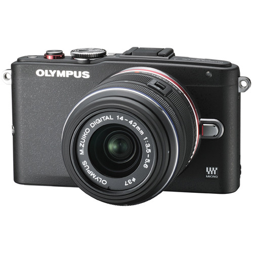 Olympus PEN E-PL6 Mirrorless Micro Four Thirds Digital Camera with 14-42mm Lens (Black)