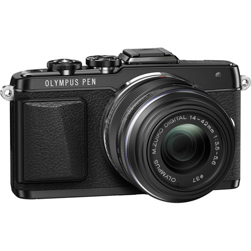 Olympus PEN E-PL7 Mirrorless Micro Four Thirds Digital Camera with 14-42mm f/3.5-5.6 II R Lens (Black)