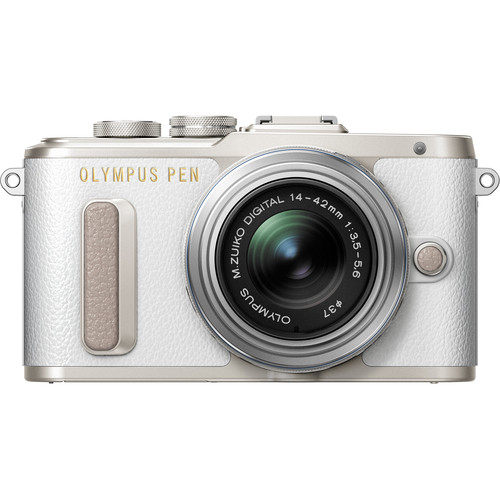 Olympus PEN E-PL8 Mirrorless Micro Four Thirds Digital Camera with 14-42mm Lens (White)