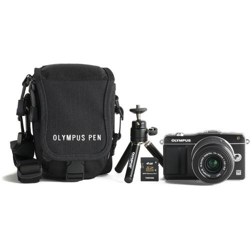 Olympus E-PM2 Mirrorless Digital Camera with M.ZUIKO 14-42mm f/3.5-5.6 Lens Bundle (Black)