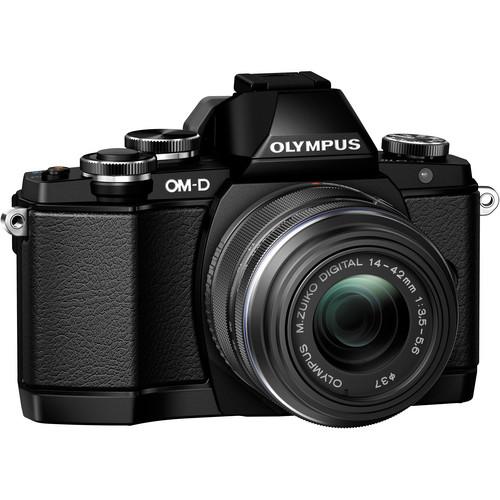 Olympus OM-D E-M10 Mirrorless Micro Four Thirds Digital Camera with 14-42mm Lens (Black)