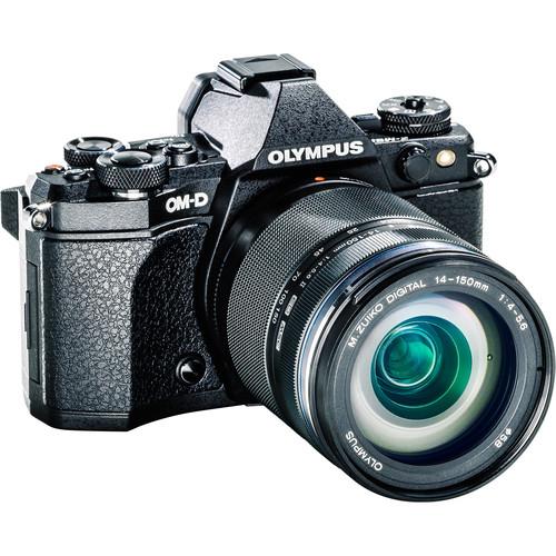 Olympus OM-D E-M5 Mark II Mirrorless Micro Four Thirds Digital Camera with 14-150mm f/4-5.6 Lens Kit (Black)