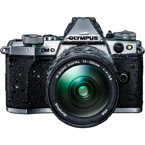 Olympus OM-D E-M5 Mark II Mirrorless Micro Four Thirds Digital Camera with 14-150mm f/4-5.6 Lens Kit (Silver)