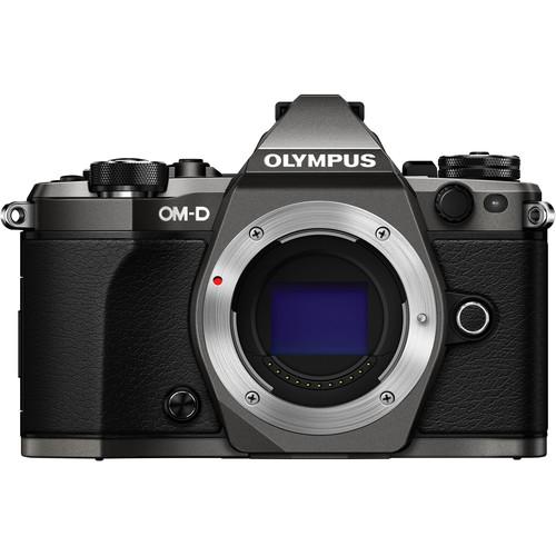 Olympus OM-D E-M5 Mark II Limited Edition Mirrorless Micro Four Thirds Digital Camera (Body, Titanium)