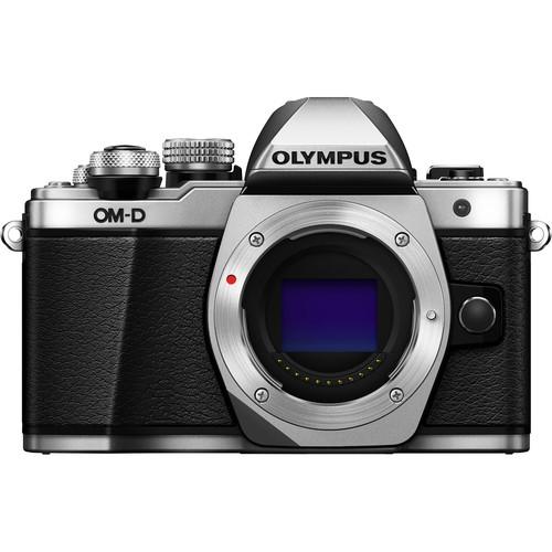 Olympus OM-D E-M10 Mark II Mirrorless Micro Four Thirds Digital Camera (Body Only, Silver)