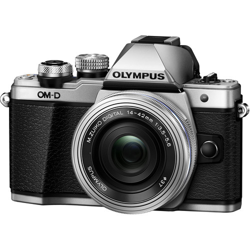 Olympus OM-D E-M10 Mark II Mirrorless Micro Four Thirds Digital Camera with 14-42mm EZ Lens (Silver)