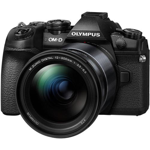 Olympus OM-D E-M1 Mark II Mirrorless Micro Four Thirds Digital Camera with 12-200mm Lens Kit