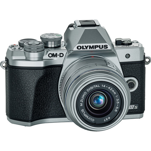 Olympus OM-D E-M10 Mark III Mirrorless Digital Camera with 14-42mm II R Lens (Silver)
