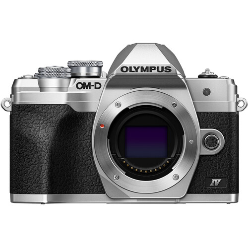 Olympus OM-D E-M10 Mark IV Mirrorless Digital Camera (Body Only, Silver)