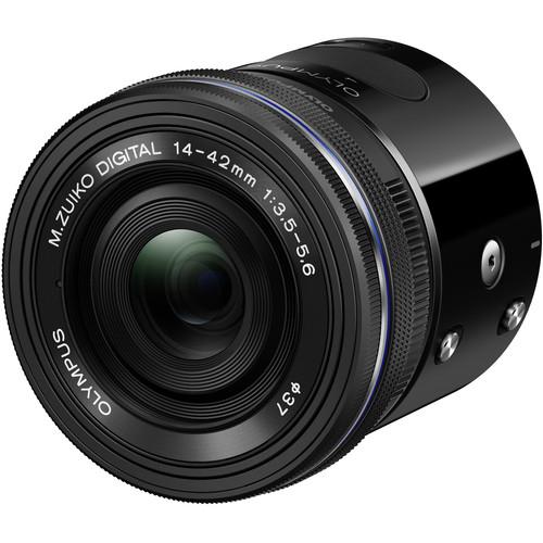 Olympus Air A01 Mirrorless Micro Four Thirds Lens-Style Digital Camera with 14-42mm EZ Lens (Black)