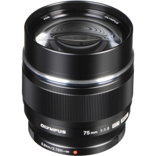 Olympus M.Zuiko Digital ED 75mm f/1.8 Lens (Black)